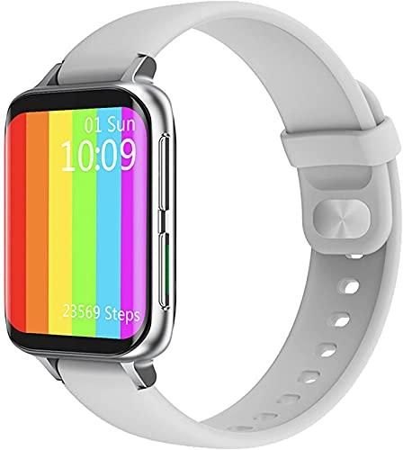 ALXLX 1.78 Pulgadas HD Pantalla Grande Monitor De Ritmo Cardíaco ECG Bluetooth Call Music Control Smartwatch Hombres DIY Marcing para Android iOS Dt93 Smart Watch, A