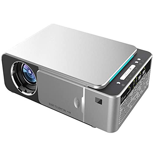 Mseteo Proiettore Wireless, 1080P HD DLP LED Portatile Portatile Ricaricabile Proiettore Compatibile con TV Compatibile PS4 HDMI USB TF Laptop PC