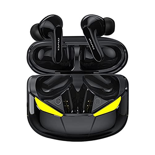 MERIGLARE Auriculares inalámbricos T35 Gaming Bluetooth 5,0 Auriculares de Control táctil IPX5 micrófono Incorporado Impermeable para Deportes de Viaje Gimnasio - Negro
