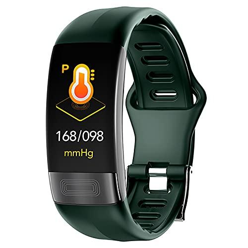 ZGZYL P11 Men's Smart Watch Pressione Sanguigna ECG + PPG Frequenza Cardiaca Monitor Smart Bracelet Fitness Tracker Guarda Pedometro Braccialetto Intelligente per iOS Android Telefoni,A