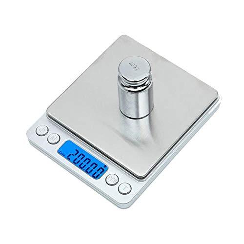 Draagbare digitale keukenweegschaal Hoge precisie gouden sieradenweegschaal Elektronische tafelweegschaal 0,1 g 0,01 gram Weegschaal Weegschaal Balans nieuw, 1 kg 0,1 g