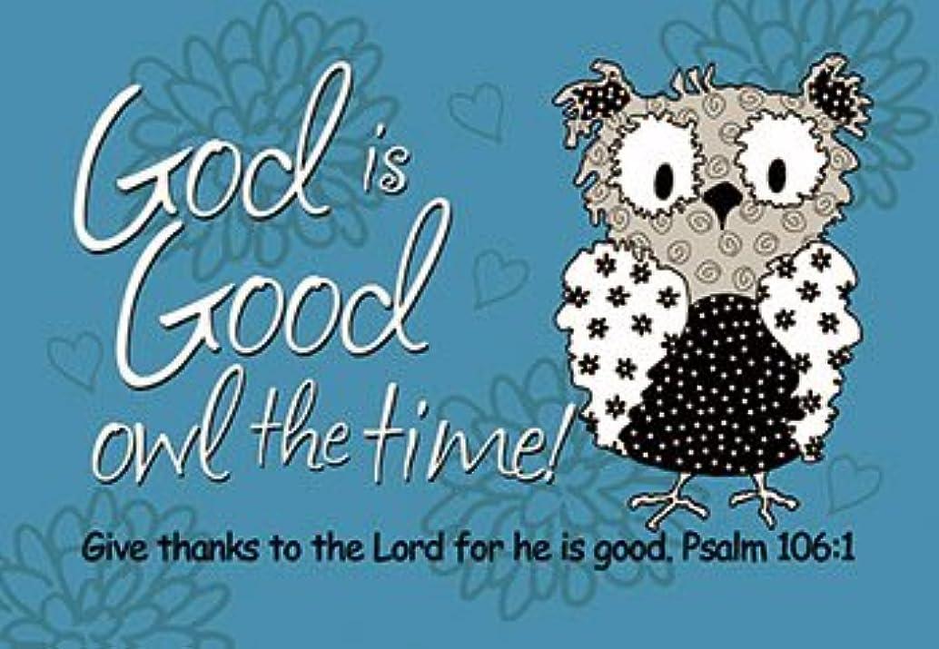 ゴールデン世界に死んだ荒涼としたPass It Onメッセージカード。。。God Is Goodフクロウの時間。。。。パッケージの25