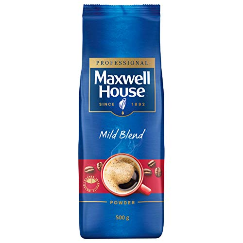 Maxwell House Mild Blend, 500g löslicher Instant Kaffee, milder Kaffeegeschmack, ideal für den Vendingbereich, sprühgetrocknet