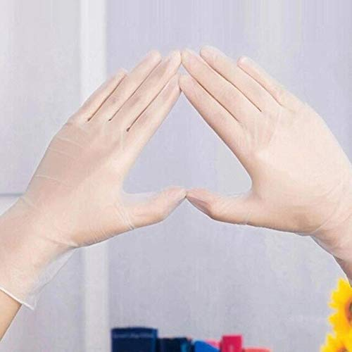 DJLHNFood Processing PVC-Handschuhe 20 Paar atmungsaktive Haushaltshandschuhe Transparente schweißabsorbierende Handschuhe Inspektionshandschuhe Kneten, Backen, Paspeln, KochenM