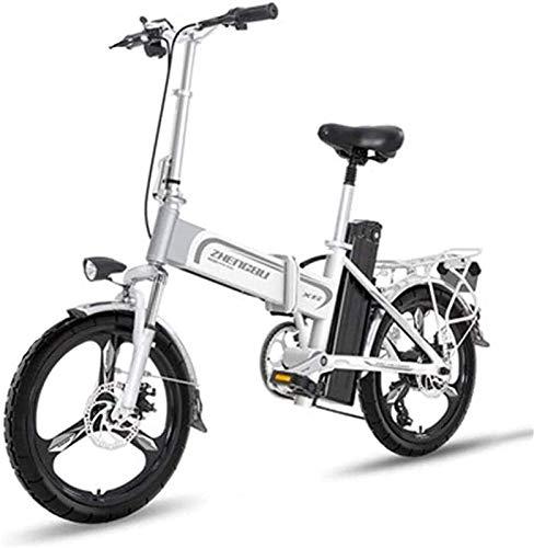 Bicicleta electrica Bicicletas eléctricas rápidas para adultos Bicicleta eléctrica liviana de 16 pulgadas Bicicleta portátil con pedal 400W Asistente de alimentación Aluminio Bicicleta eléctrica