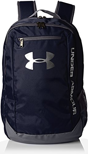 Under Armour UA Hustle Backpack Ldwr, Zaino Uomo, Blu (Midnight Navy/Graphite/Silver 410), Taglia Unica
