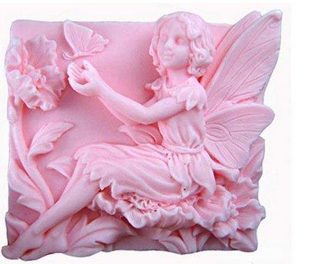 Allforhome 6,86 cm jugar con diseño de hada con diseño de flores de manualidades de mariposa...