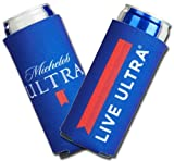 2019 Michelob Ultra Slim Line Can Cooler -2 PACK Coolie LIVE ULTRA