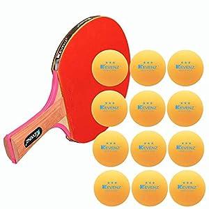 KEVENZ 60-Pack 3-Star 40+ Table Tennis Balls,Advanced Ping Pong Ball (Orange, White)