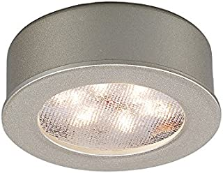 WAC Lighting HR-LED87-BN LED Round Button Lights, 3000K in Brushed Nickel Finish