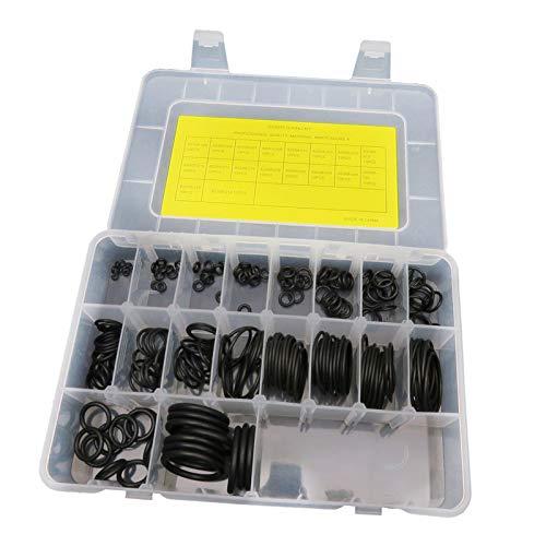 Perfeclan 200 Piezas 18 tamaños de Kit de Junta tórica de Buceo con Caja de Almacenamiento para válvulas de Tanque de Buceo, mangueras, reguladores, cámaras,