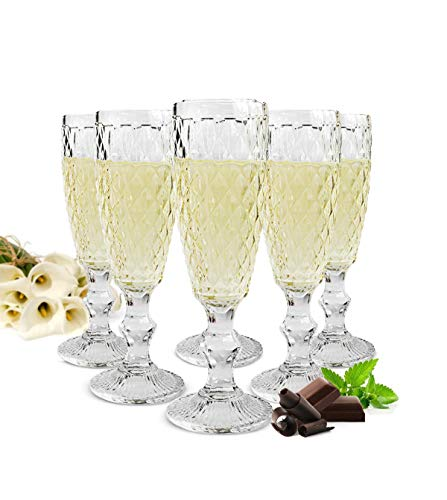 Sendez 6 Sektgläser 200ml auf Fuß Beate Sektkelche Champagner Prosecco Sektglas Proseccoglas