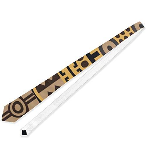 FANTAZIO Alfombra africana con textura nueva clásica elegante corbata de negocios para...