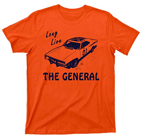 Long Live The General T Shirt 1969 Charger Dukes of Hazzard Tee (2XL, Orange)