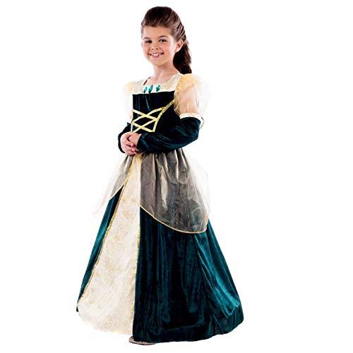 Leuke Shack FNK4537M kostuum, Meisjes, Prinses Jurk Groen, Medium