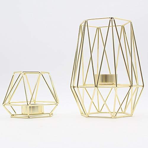 FENG Geometrische Kerzenhalter, moderner Kerzenständer aus Eisen, Stabiler Kerzenständer aus Metall, Kerzenhalter im einfachen Stil.