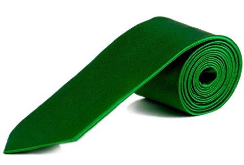 Cravatta business 5 cm sottile – Slim Tie – in diversi colori verde erba Taglia unica