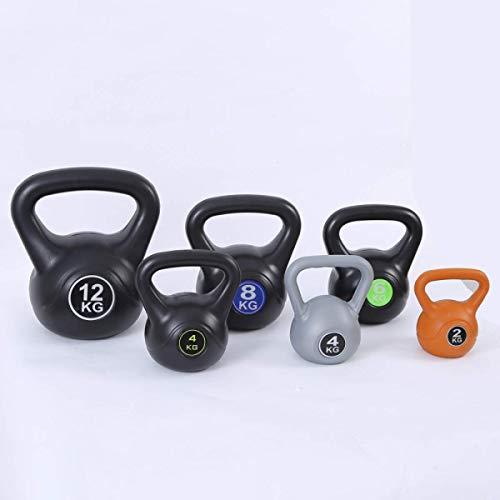 Kettlebells Set,6pce Kettlebell Weight Set with Stand - 2,4,6,8,10 & 12KG