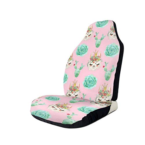 Car Seat Covers Cactus and Alpaca Printed Car Seat Covers Front Seats Fit Most Car, Truck, SUV Or Van