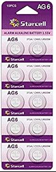 Starcell 10Pcs SR920SW 371 LR920 AG6 370 1.55V Button Cell Watch Batteries