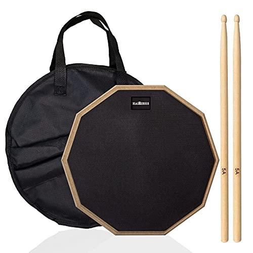 Drum practice pad, rubber practice pad for dumb drum beginners, preheated before...