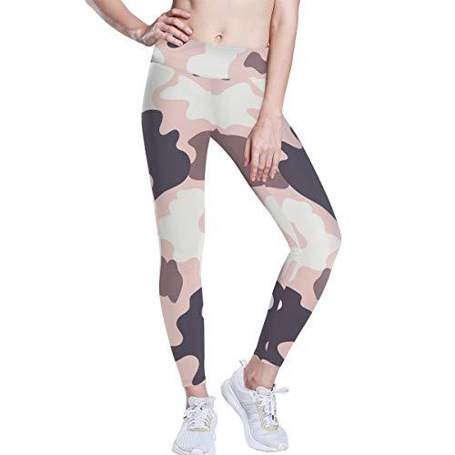 Linomo Yoga-Hose für Frauen mit Hoher Taille, Camo Militär Tarnen Trainieren Laufen Hose Yoga Leggings für Frauen