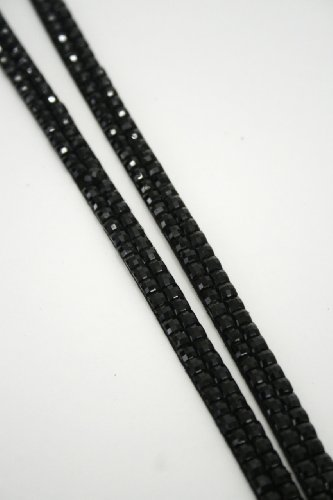Colorful Rhinestone Lanyards with Vertical Rhinestone Lined ID Badge Holders - Perfect for Work, Special Events, Gifts, VIP Backstage Passes and More! (BLACK) Photo #4