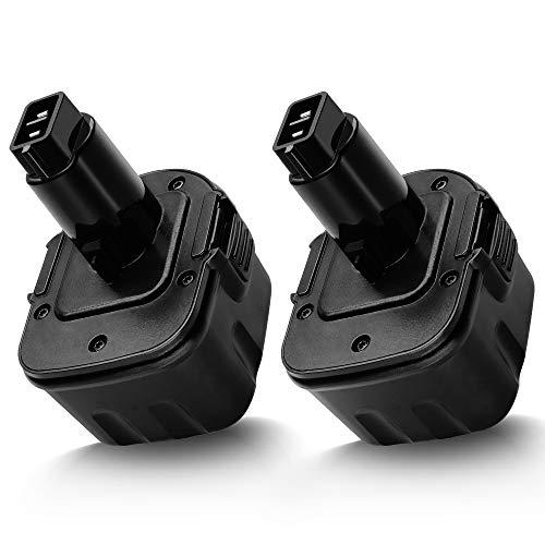 ERJER 2Pack 3.6Ah for Dewalt 12V Battery XRP DW9071 DW9072 DC9071 DE9037 DE9071 DE9072 DE9074 DE9075, Premium Replacement Ni-MH Battery for Dewalt 12 Volt Cordless Power Tools