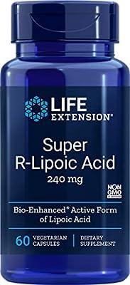 Life Extension Super R-Lipoic Acid (60 Vegetarian Capsules) 240mg