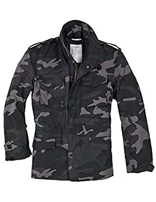 Surplus Men's US Field Jacket M65 Black Camo Size XXL