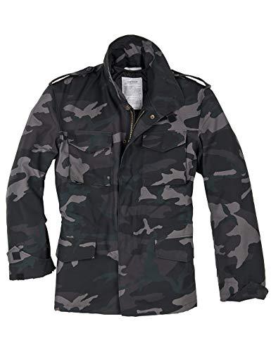 Surplus Men's US Field Jacket M65 Black Camo Size L