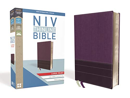 NIV, Thinline Bible, Large Print, Leathersoft, Purple, Red Letter, Comfort Print