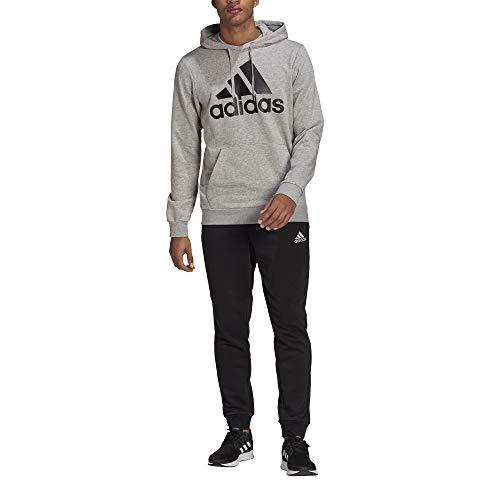 adidas GK9653 M BL FT HD TS Tracksuit mens top:medium grey heather/black bottom:black/white 8