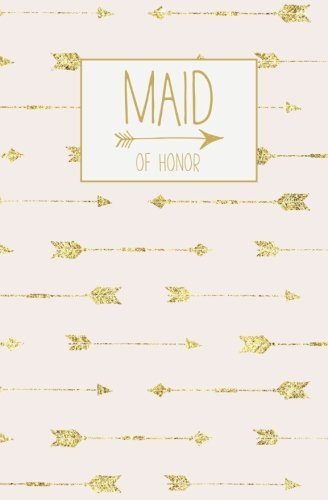 Maid of Honor: Notebook, Rose Gold Blank Wedding Planning Journal, 110 Lined Pages, 5.25 x 8, Stylish Journal for Bridesmaid, Ideal for Notes & Ideas ... to Be's Maid of Honor, Bridal Party Gifts