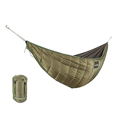 KING SHOWDEN Hammock Underquilt Lightweight Camping Winter Sleeping Bag Under Quilt Blanket Ultralight Underquilt Keep Your Warmer Saves Space Portable (Green)