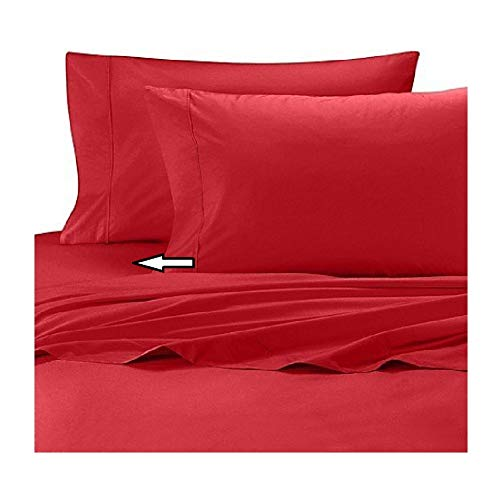 Wamsutta Cool Touch Percale Full Fitted Sheet in Red