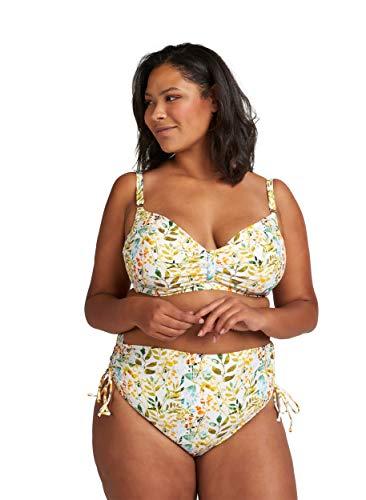 Zizzi Damen Große Größen Hochtaillierte Bikinihose mit Print Gr 42-56