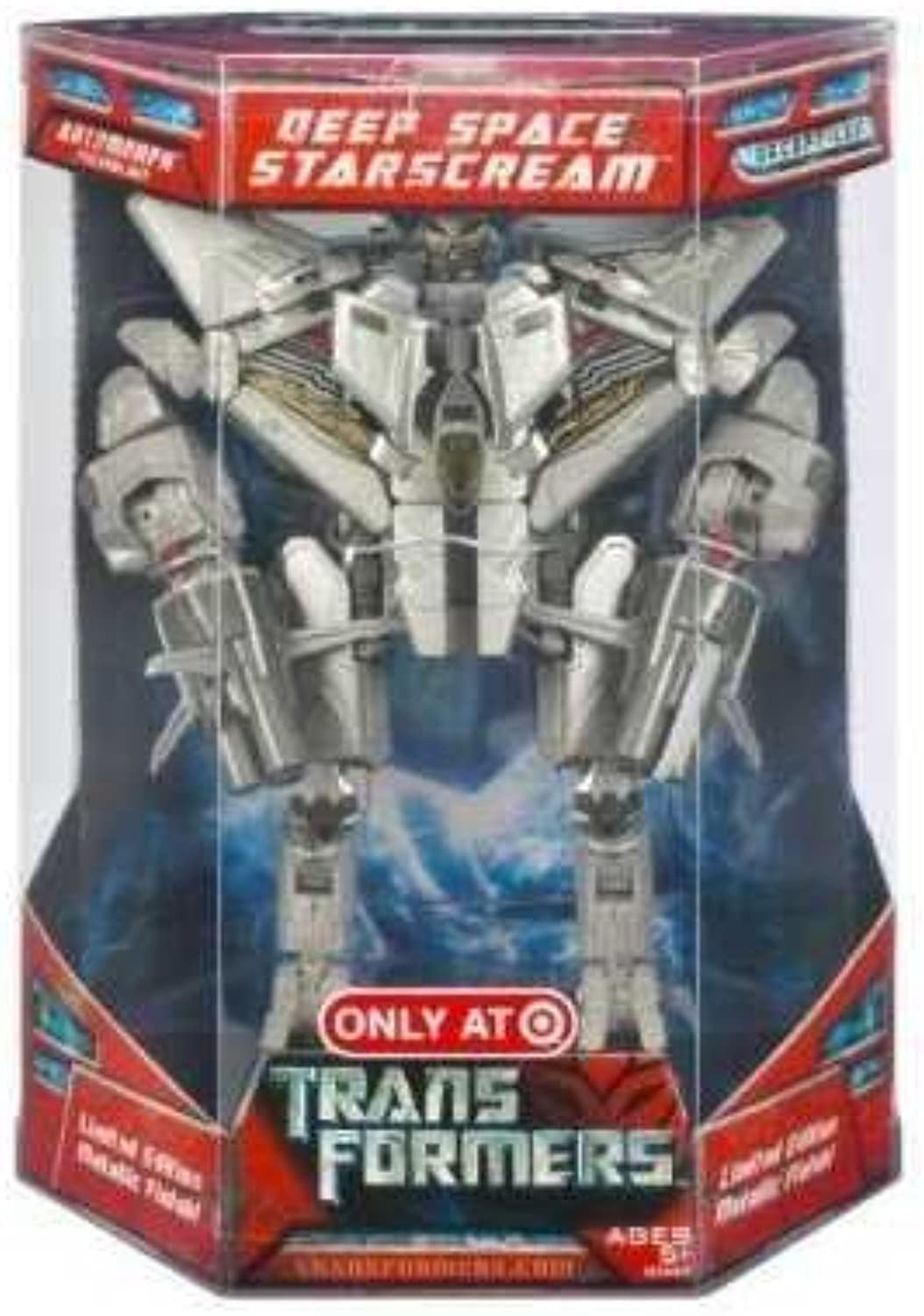 TRANSFORMERS - EXCLUSIVE - LIMITED EDTION METALLIC FINISH - DECEPTION - DEEP SPACE STARSCREAM