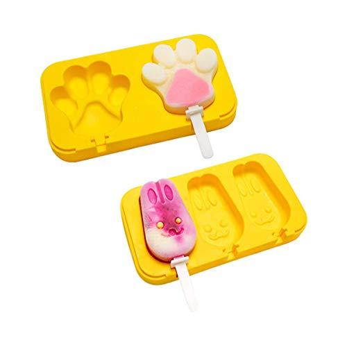 Molde de silicona Shapl para helado de helado, 2 unidades, moldes de silicona para paletas con tapa, libre de BPA, molde de barra de helado casero, moldes para helados, bricolaje