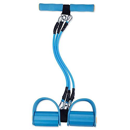 YISUNF Extensor de Pecho, Extensor de Pecho Muscular del ejercitador - Pedal 3-en-1 de tensión Ajustable Cuerda elástico Desmontable de Goma Resistencia Cinturón de múltiples Funciones