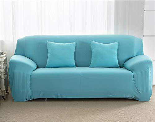 Copridivano, antiscivolo elasticizzato copridivano per soggiorno per divani (Colore: celeste, specifica: 1 sedile 90 140cm)
