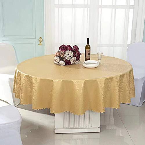 Onderhoudsvriendelijk, vuilafstotend, hoge temperatuurbestendigheid. Kleur en grootte naar keuze. Ronde tafel, waterdicht, restaurant, eettafel, rond tafelkleed, diameter 160 cm.
