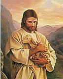 QWEWQE Wandkunst Leinwand Malerei, Jesus Und Jungfrau Maria