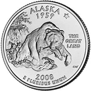 2008 D Alaska State Quarter From Uncirculated Mint Sets Combined Shipping