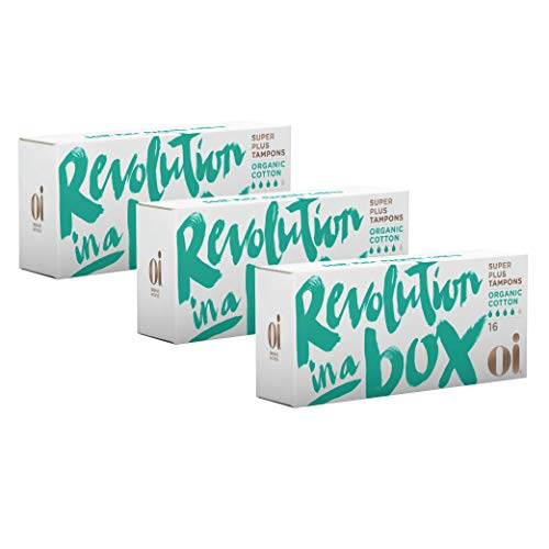 Oi - Organic Initiative Cotton Tampons, No Applicator, Comfortable, Recyclable, Less Packaging...