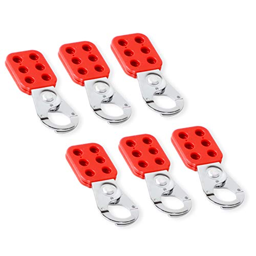 TRADESAFE Lock Out Tag Out Lock Hasp. 6 Pack Lockout Tagout Hasp. Steel Padlock Hasp for Lock Out Devices. Heavy Duty Loto Hasp for Lockout Safety Supply, Kits, and Stations