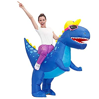Decalare Adult Size Inflatable Dinosaur T-REX Costume Fancy Costumes Halloween Party Cosplay Fantasy Blow up Costume (Adult Size) from