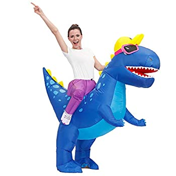 Decalare Adult Size Inflatable Dinosaur T-REX Costume Fancy Costumes Halloween Party Cosplay Fantasy Blow up Costume  Adult Size