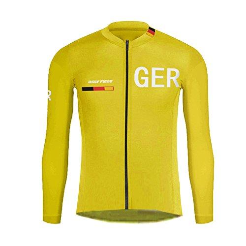 Uglyfrog -Landesvorwahl Sport Radsport Trikots & Shirts Long Sleeve Herren Fruhling Stil Bekleidung Atmungsaktiv Top
