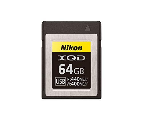 Nikon XQD Professional Speicherkarte 64 GB (bis zu 440 MB/s Lesen und bis zu 400 MB/s Schreiben), Hybrid Z 6II, Z 6, Z 7II, Z7, Reflex D6, D5, D850, D500
